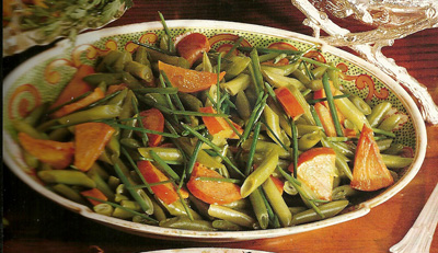 sauteed-persimmons-green-beans-chives